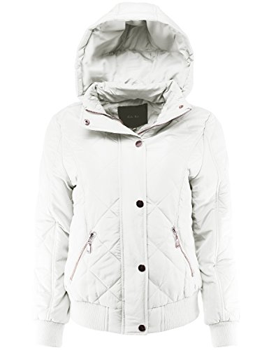 Quilted Detachable Hood Jacket - 2