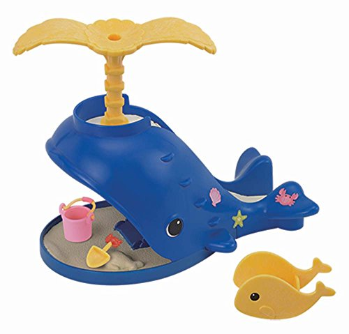Calico Critters Splash and Play Whale - Have a Fun Day in the Sun - Includes a Slide, Sand Box, Bucket, Shovel, and Rocker - Connectable with the Adventure Treasure ()