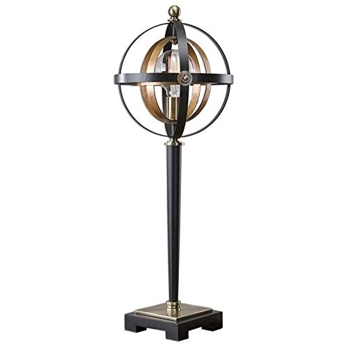 Uttermost 29212-1 Rondure Sphere Table Lamp, Dark Bronze