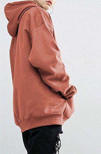 Tops Unie Sweats Les Lache Pullover Casual Shirts Pulls Femmes Jours Capuche Fashion Blouse Manches Hiver Hoodie Chemisiers Longues Hauts Couleur Tous Marron Sweat de Automne Rnw8qOXaZn