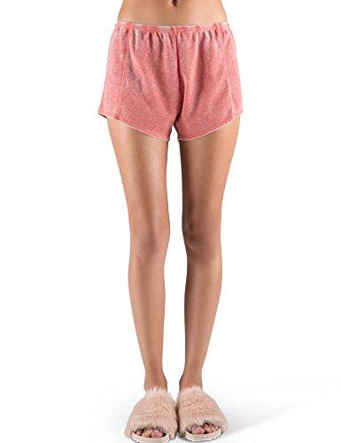 Rebel Canyon Young Women's Vintage Wash Thermal Shorts X-Small (Cotton Thermal Shorts)
