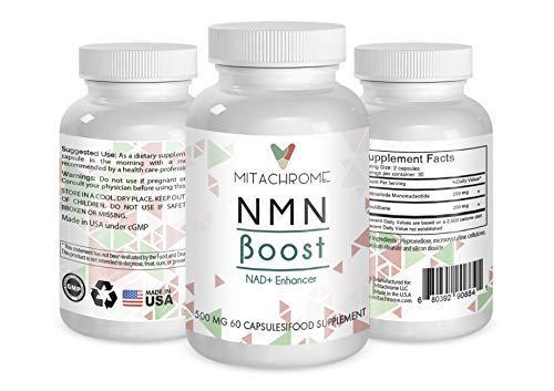 (NMN) β- Nicotinamide Mononucleotide 250mg's + 250mg's Pterostilbene (60 Capsules) by NMN Boost