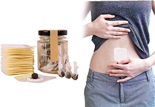 Herbal Slimming Tummy Pellet, Unisex Moxa Navel Paste, Natural Ingredients Firming Abdomen Legs Arms Herbal, Chinese Medicine Wormwood Sticker for Unisex 1