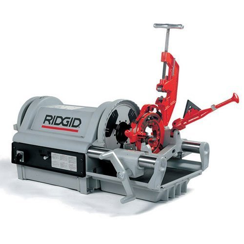 (RIDGID 26092 Model 1224 Pipe Threading Machine, 36/12 RPM Pipe Threading Machine with Hammer Chuck, 1/2-Inch to 4-Inch Pipe Dies and NPT Threading Die Head)
