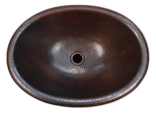 19 x 14 Oval Copper Bath Sink Self Rimming Drop-In or Vessel Sink by SimplyCopper ()