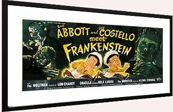 Abbot Costello Meet Frankenstein Movie Poster Framed Matted
