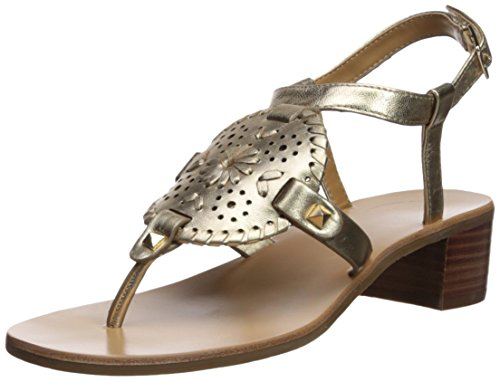 Jack Rogers Women's Gretchen Heeled Sandal, Platinum, 6 Medium US by Jack Rogers