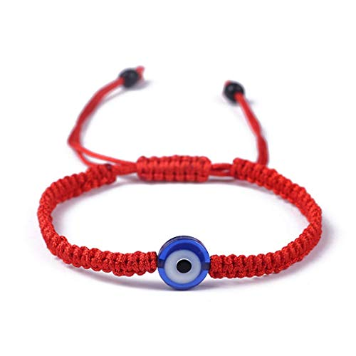 SimpleLif Lucky Bracelets,Red String Evil Eye Hamsa Hand Cross Bracelets, Good for Wealth and Love