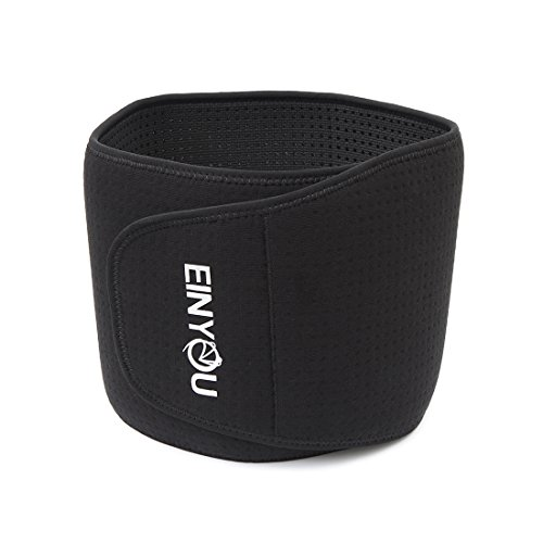 EINYOU Waist Trimmer Belt – Ideal Tummy Belly Slimming Wrap Body Trainer for Men and Women – Waist Guard Protector Back Brace – Adjustable (Wide Waistband Jumper)
