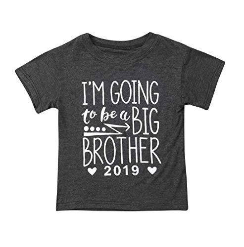 Newborn Baby Boys Girls Bodysuit I'm Going to Be A Big Cousin Bodysuit Onesies Baby Romper (Grey Brother, 12-18M)