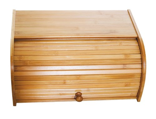 Lipper International 8846 Bamboo Wood Rolltop Bread Box, 15-3/4
