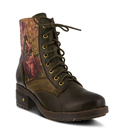 L`Artiste by Spring Step Women's Leather Boots Marty Olive Green EU Size 40 (Spring Step Olive)