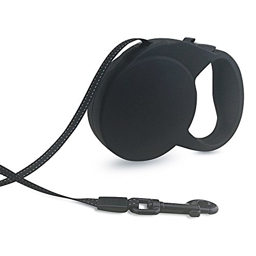 Harbo Retractable Dog Leash - 16 ft for Small Medium Large Dogs,One Button Break & Lock - Black