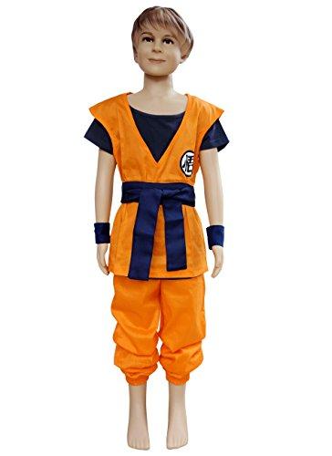 Kid Chichi Costume (Dazcos Son Goku Men's or Kids Cosplay Costume (Child S))
