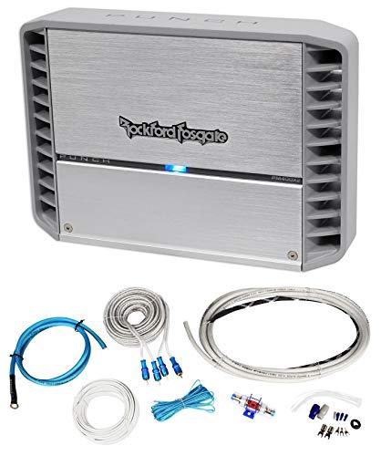 (Rockford Fosgate PM400X2 400 Watt RMS 2 Channel Marine/Boat Amplifier+Amp Kit)