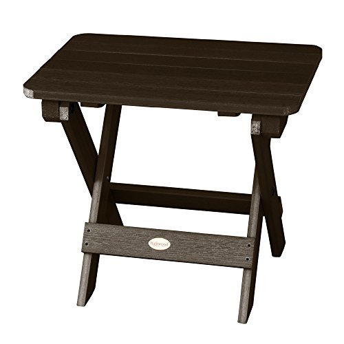 Highwood Folding Adirondack Side Table, Weathered Acorn (Finish Weathered Teak)