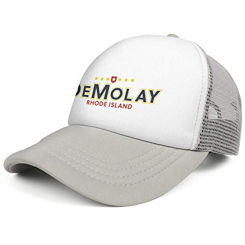 QILI Rhode Island DeMolay Novelty Mesh Snapback Hats Relaxed Fit Sun Hat Adjustable Unisex