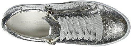 silver Zapatillas Und Plateado Mujer Sohle Schmenger silver Kennel Weiss Para Big 0q6WZH