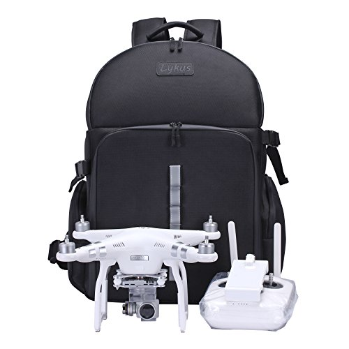 Lykus DBP-100U Water Resistant Travel Backpack for DJI Phantom 4 / 4 Pro and Phantom 3