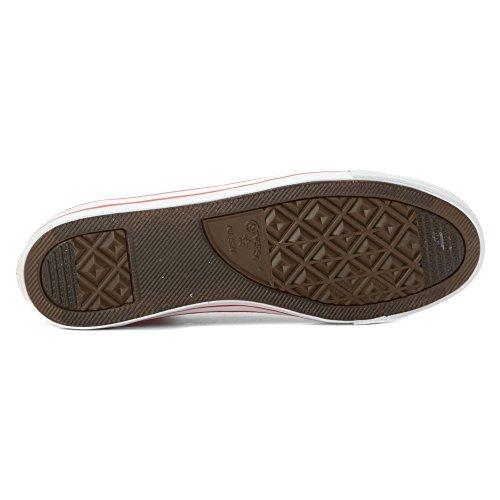 Converse Nydelig Læder Okse 289050-52-8 Dame Sneaker Kasino Rød FoQZRKe