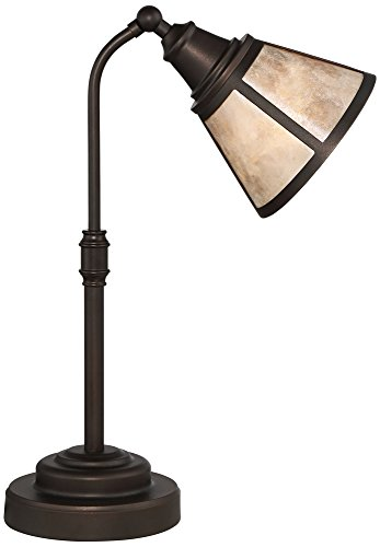 Malta Satin Bronze Mica Shade Desk Lamp Bronze Desk Lamp