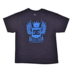 DC Boys Jett Crowned Winged Crest Logo Shirt
