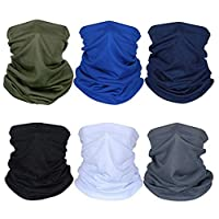 easbeauty 6pcs Breathable Sun UV Protection Face Mask, Dust Protection Neck Gaiter...