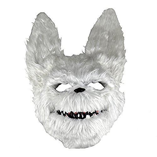 Evil Psycho Furry White Rabbit Bunny Mask -