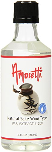 Sake Pineapple (Amoretti Natural Sake Wine Type Extract, 4 Fluid Ounce)
