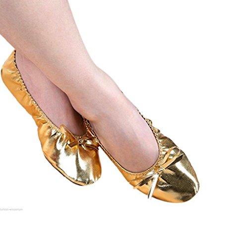 MagiDeal 1 Par Zapatos de Baile Deporte Protección de Pie Suela Antideslizante Transpirables Cómodo Cuero Artificial
