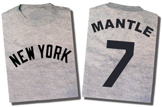 Mickey Mantle  Road  T Shirt  Lg