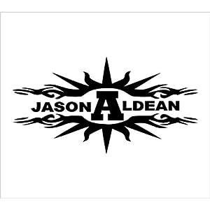 2x 9 jason aldean logo sticker vinyl decals