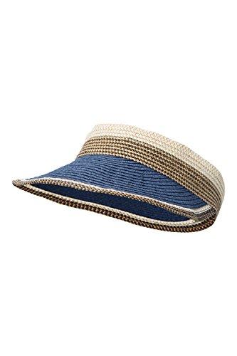 [Mountain Warehouse Womens Straw Visor Hat Navy] (Pork Pie Hat For Sale)