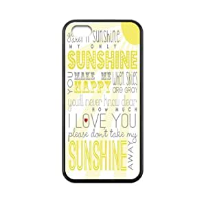 super shining day Cellphone Accessories You Are My Sunshine Apple iPhone 5C TPU Material Shell