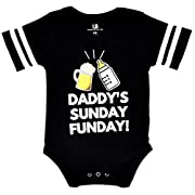 Unique Baby Unisex Daddy's Sunday Funday 1st Father's Day One Piece (6 Months)
