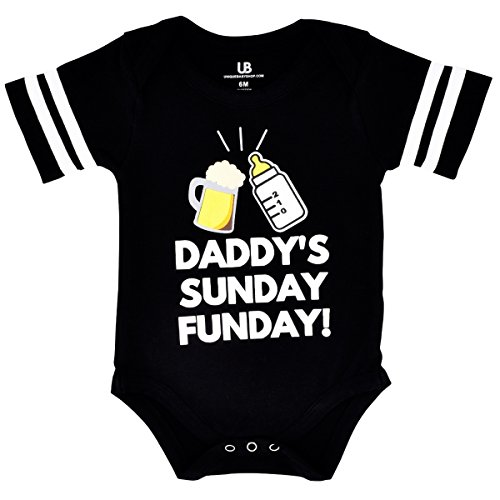 Unique Baby Unisex Daddy's Sunday Funday 1st Father's Day One Piece (3 Months) -
