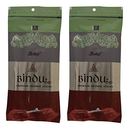 丁寧シャー厳密にBalaji Bindu Bamboo Incense Sticks (8 cm, 120 g, Black, Pack of 2)