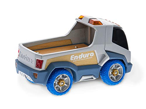 Enduro Toy Truck - Heavy Duty, Solid Aluminum | Made from 100% Sustainable Materials | Amazing Driving Mechanics | Desk Toy | Fidget Toy | Real Steering and Suspension Mechanics | Ages 3+ Pretend Play