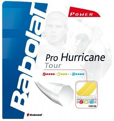 Babolat Pro Hurrican Tour 17-gauge Tennissaiten (gelb) von Babolat