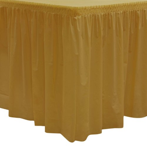 (Party Essentials Heavy Duty Plastic Table Skirt, 29