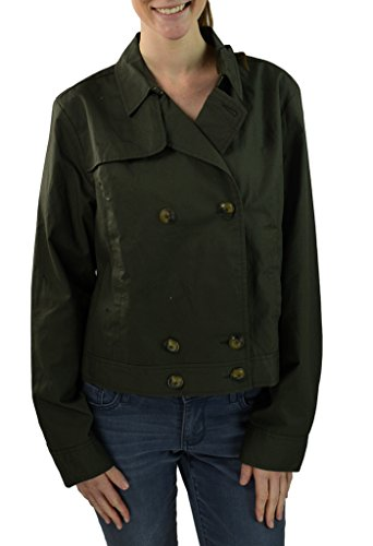 Tommy Hilfiger Women's Cropped Trench Jacket 14 Olive Ink