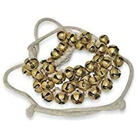 100 NO-16 LARGE SIZE BELLS BEST QUALITY TIED WITH COTTON CORD INDIAN CLASSICAL DANCERS ANKLET.MRS,2.2 SCEXPORTS LARGE SIZE KATHAK GHUNGROO 100
