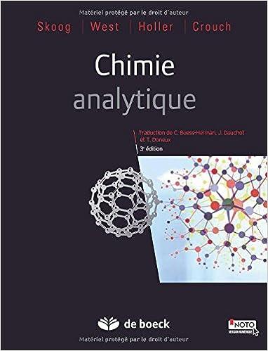Lire Chimie analytique epub pdf