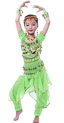 (Astage Girls Cosplay Belly Dance CostumeGreen M(Fits)