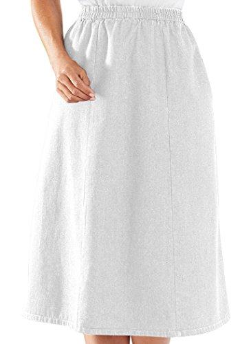 Woven Skirt Elastic Waist (AmeriMark Denim Skirt)