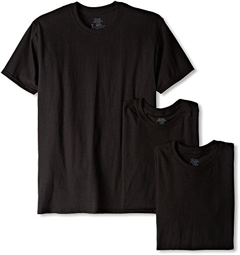 Hanes Mens Comfortsoft Dyed Crew 3 Pack, XX-Large, Black