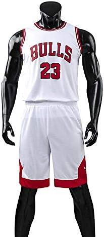 メンズ/ユニセックスバスケットボールTシャツ-夏のバスケットボールユニフォームNBAマイケルジョーダン#23シカゴブルズファンエディション#ジャージ-クラシックノースリーブトップ&ショートL-5XL
