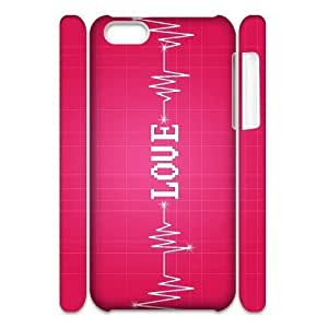 MMZ DIY PHONE CASEGTROCG love pink Phone 3D Case For ipod touch 4 [Pattern-1]