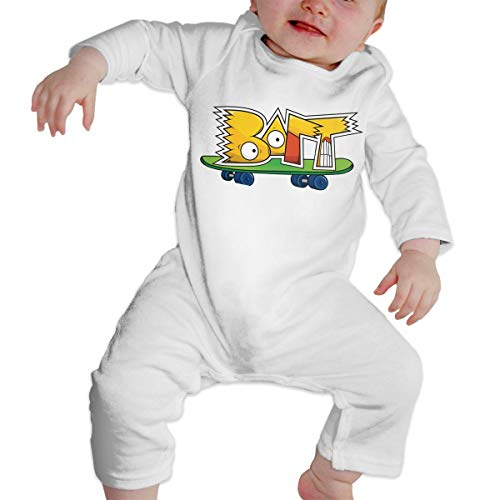 B-Art Sim-p-Son Long Sleeve Baby Onesie Bodysuits (18M) -