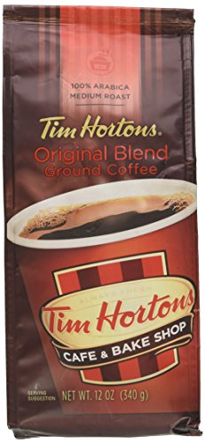 Tim Hortons 100% Arabica Medium Roast Original Blend Ground Coffee, 12 Ounce